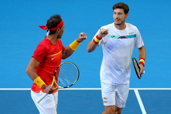Chẳng tay vợt nào hạnh phúc hơn Nadal hôm nay: Vừa tỏa sáng giúp Tây Ban Nha vào tứ kết ATP Cup, lại ẵm thêm chiếc cúp danh giá - Ảnh 8.
