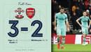 Southampton 3-2 Arsenal: Pháo thủ chấm dứt mạch bất bại