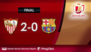 Sevilla 2-0 Barcelona | Thiếu Messi, Barca thất bại trong trận tứ kết Cúp nhà vua