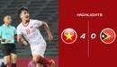 Highlights U22 Việt Nam 4-0 U22 Timor Lester | Danh Trung, Thanh Hậu tỏa sáng