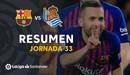 Highlights Barcelona tiến gần hơn tới chức vô địch sau chiến thắng Real Sociedad