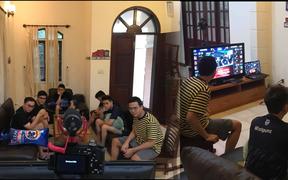 Team Flash thảnh thơi ngồi nhà xem Rap Việt trước bán kết ĐTDV