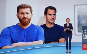 """Messi bị phiên bản giả của mình """"cướp ảnh"""" trên sóng truyền hình"""