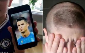 Fan nhí bị troll cực gắt vì muốn được đẹp trai, tóc tai vuốt vuốt như Ronaldo