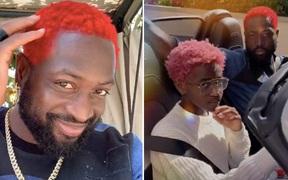 Dwyane Wade nổi hứng nhuộm tóc đỏ rực phá cách ở tuổi 38, lý do đằng sau hành động này khiến nhiều người phải thán phục
