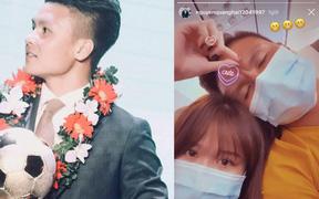 Quang Hải khoe video tình cảm với Huỳnh Anh trên máy bay