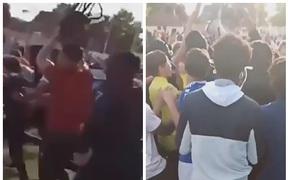 2 CLB Pháp gây bạo loạn vì tổ chức thi đấu chui, cảnh sát hoàn toàn bất lực trước đám đông CĐV hung hãn