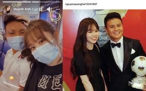 Quang Hải cùng Huỳnh Anh trở về Hà Nội, được nàng xoa đầu cưng chiều