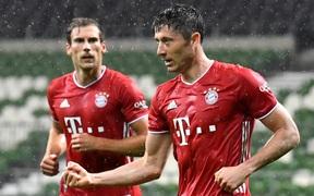 """Thắng trận thứ 11 liên tiếp, """"Hùm xám"""" Bayern bước lên ngôi vô địch Bundesliga sớm 2 vòng đấu"""