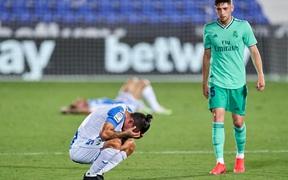 Tân vương Real Madrid khiến đối thủ gục khóc vì xuống hạng