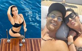 """Bạn gái đăng ảnh cực nóng bỏng, Ronaldo """"không chịu nổi"""" phải thốt lên một câu nhận về hàng vạn lượt thả tim: Em là người đẹp nhất thế giới này"""