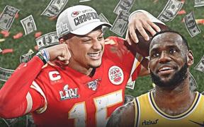 """Lời chúc mừng độc đáo của LeBron James gửi tới siêu sao bóng bầu dục: """"Cho tôi mượn 5 đô nhé"""""""