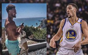 """Ngôi sao của Golden State Warriors thể hiện khoảnh khắc đáng yêu bên cạnh """"người bạn đời"""" thân thiết"""