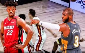 """Jimmy Butler và Chris Paul """"ăn miếng trả miếng"""" trong ngày Miami Heat thua """"cay cú"""" trước Oklahoma City Thunder"""