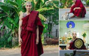 """Xuất hiện """"thầy tu"""" người Myanmar cao to đẹp trai, cơ bắp khiến hàng trăm nghìn con tim xao xuyến"""