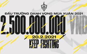 Đấu Trường Danh Vọng giữ vững ngôi vị số 1 trong làng Esports Việt Nam với tiền thưởng khổng lồ