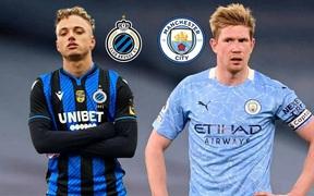 Kết quả trận đấu Club Brugge vs Man City (bảng A Champions League)