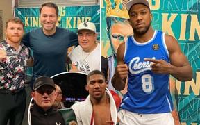Anthony Joshua đến thăm phòng tập của Canelo Alvarez: Cựu vương định thay HLV?