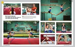 """Bộ ảnh """"Bên trong lò đào tạo VĐV thể dục dụng cụ TP Hải Phòng"""" giành huy chương vàng Festival nhiếp ảnh trẻ 2021"""