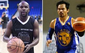 Floyd Mayweather chuẩn bị tái đấu cùng Manny Pacquiao nhưng là ở trên sân bóng rổ