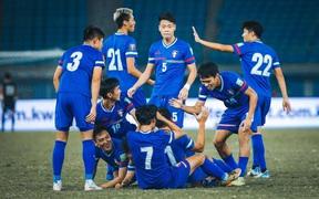 U23 Đài Bắc Trung Hoa được ngợi khen khi thua U23 Việt Nam tối thiểu