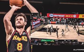 """Ném """"cháy rổ"""" Boston Celtics, Danilo Gallinari thiết lập kỷ lục tại Atlanta Hawks"""