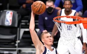 Kristap Porzingis trở lại, Dallas Mavericks cắt chuỗi thắng của Brooklyn Nets