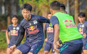 Xuân Trường, Công Phượng tập đối kháng trước trận gặp Hà Nội FC