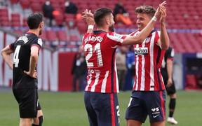 Đè bẹp đội bét bảng với chiến thắng 5 sao, Atletico Madrid yên vị trên đỉnh La Liga