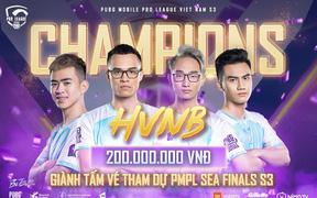 Áp đảo tại vòng chung, HVNB chính thức trở thành tân vương của PUBG Mobile Việt Nam, ẵm ngay 200 triệu đồng tiền thưởng