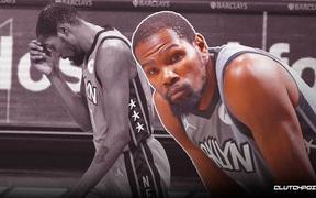 """Dính chấn thương từ sớm, Kevin Durant """"bất lực"""" nhìn Brooklyn Nets thua suýt soát Miami Heat"""
