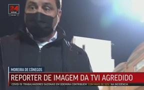 Người môi giới cầu thủ tấn công phóng viên ngay trên sóng truyền hình