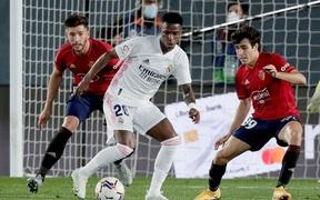 Giành trọn 3 điểm trước Osasuna, Real Madrid còn nguyên hy vọng bảo vệ ngôi vương