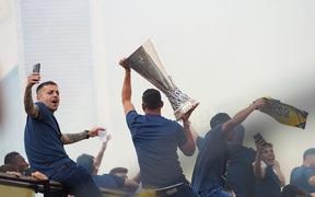Villarreal diễu hành mừng vô địch Europa League ở quê nhà