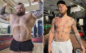 """Chênh nhau tới 70 kg, """"Người khỏe nhất hành tinh"""" vẫn quyết thách đấu Youtuber Jake Paul"""