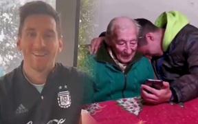 Messi nhắn gửi xúc động đến fan 100 tuổi, người đã không tiếc công làm điều đặc biệt cho Leo