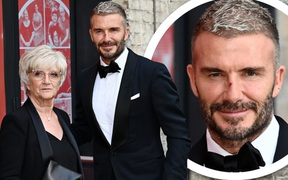 Vết xước bí ẩn trên mũi của David Beckham trong ngày cùng mẹ đến dự một buổi lễ trao giải