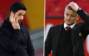 Solskjaer có tỷ lệ mất việc cao ngang ngửa với Arteta của Arsenal