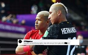 """Cư dân mạng bức bối với trọng tài không công nhận bàn thắng của đội tuyển futsal Việt Nam, """"cà khịa"""" cầu thủ Panama ăn mừng sớm"""