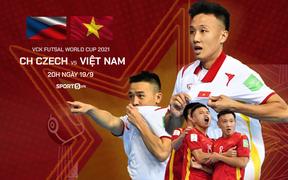 Kết quả Việt Nam 1-1 CH Czech: Việt Nam lần thứ hai trong lịch sử tiến vào vòng 16 đội futsal World Cup