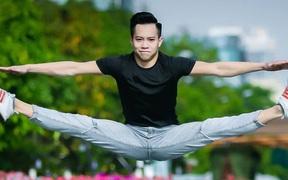 Tuyệt đẹp với bộ ảnh bay giữa Sài Gòn cực chất của chàng hotboy thể dục dụng cụ Việt Nam