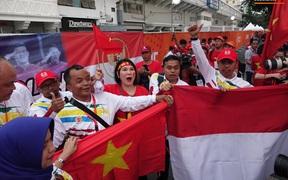 Đội tuyển U22 Việt Nam đã có mặt tại sân, sẵn sàng chinh phục tấm HCV SEA Games