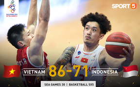 Vượt qua Indonesia một cách thuyết phục, đội tuyển bóng rổ Việt Nam viết nên trang sử mới với tấm huy chương đồng SEA Games