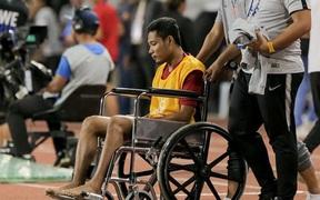 """Evan Dimas chấn thương không nặng, báo Indonesia vẫn không buông tha: Văn Hậu cố tình """"giết"""" đồng nghiệp"""