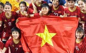 Các cô gái tuyển Việt Nam ăn mừng đầy cảm xúc sau khi đánh bại Thái Lan, khẳng định vị thế số 1 Đông Nam Á