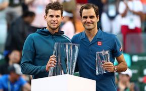 Federer bất ngờ thua ngược Thiem ở chung kết Indian Wells
