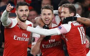 Hai đại gia Ngoại hạng Anh giành ưu thế lớn để đặt một chân vào bán kết Europa League