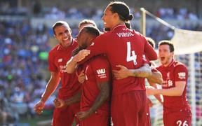 Cardiff City 0-1 Liverpool (H2): Wijnaldum nã đại bác đưa The Kop lên ngôi đầu bảng