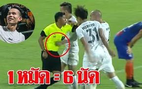 Đánh lén trọng tài và hậu quả bẽ bàng cho tuyển thủ Thái Lan: Cấm thi đấu 8 trận, nộp phạt gần 90 triệu VNĐ, bị loại khỏi danh sách sơ bộ đá King's Cup