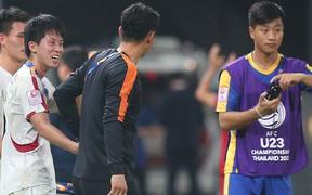 U23 CHDCND Triều Tiên hồn nhiên chụp ảnh sau trận thắng U23 Việt Nam